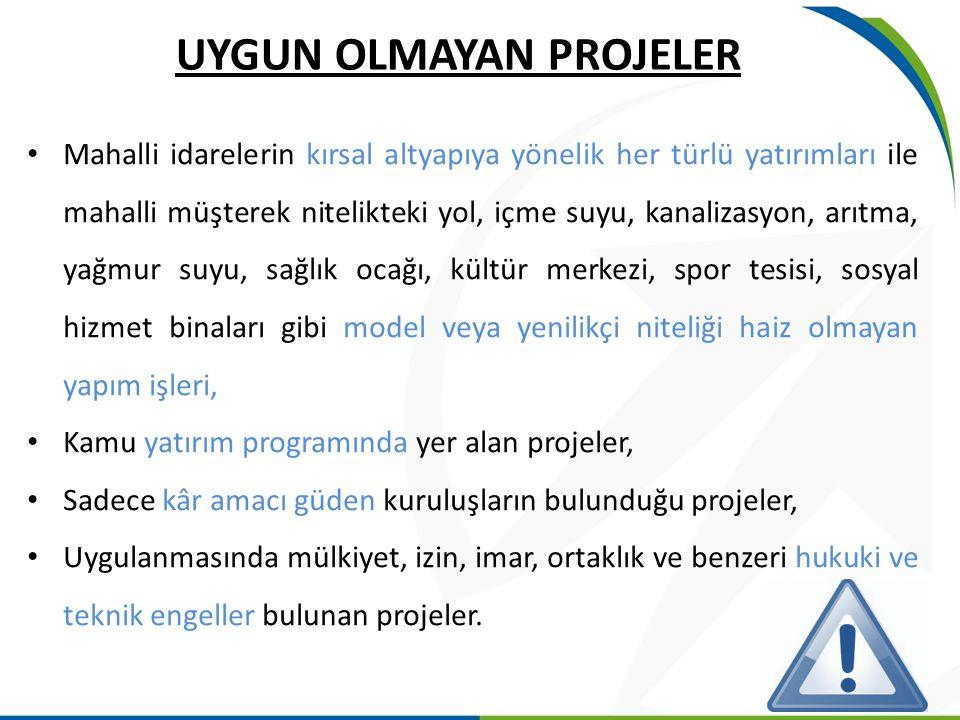FAALİYETLERİN UYGUNLUĞU YER: TR62 Bölgesi (Adana-Mersin) SÜRE: Azami 2 yıldır Adana Mersin