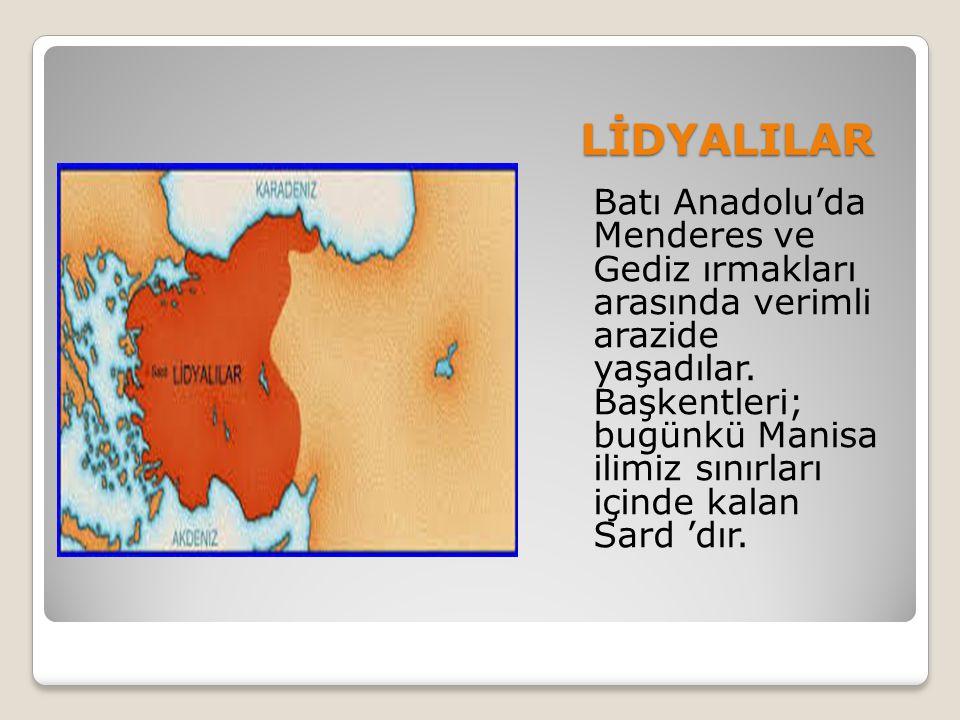 Lidyalılar feodal bir yapıya sahiptiler.