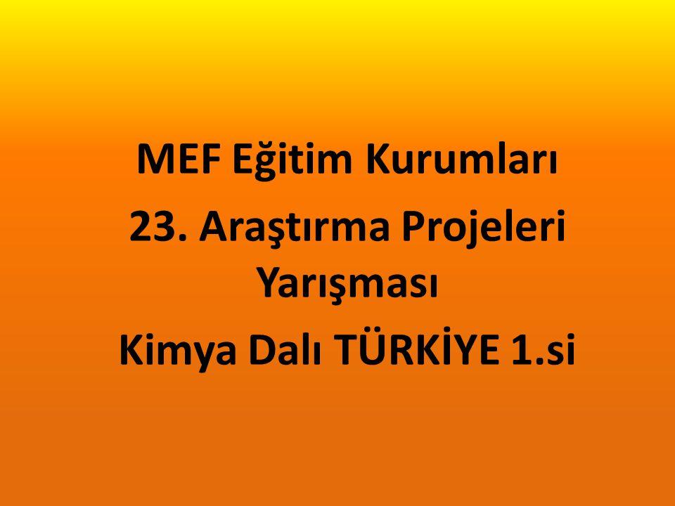 MEF Eğitim Kurumları 23. Araştırma Projeleri Yarışması Sergisi