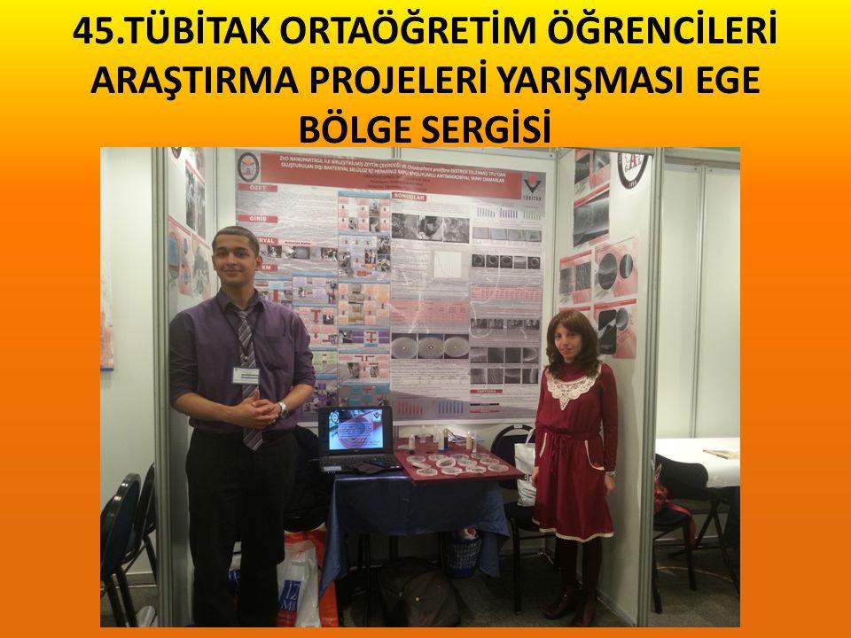 MEF Eğitim Kurumları 23. Araştırma Projeleri Yarışması Kimya Dalı TÜRKİYE 1.si