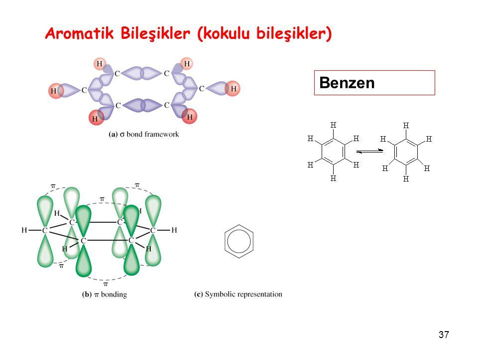37 Aromatik Bileşikler (kokulu bileşikler) Benzen