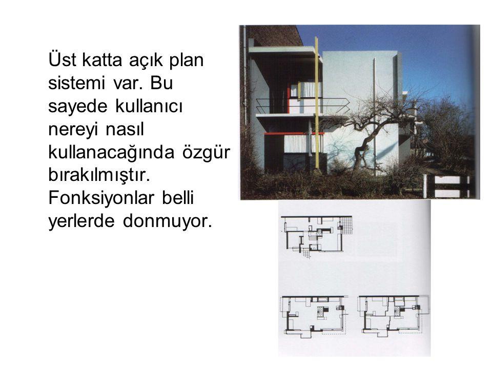 Üst katta açık plan sistemi var. Bu sayede kullanıcı nereyi nasıl kullanacağında özgür bırakılmıştır. Fonksiyonlar belli yerlerde donmuyor.