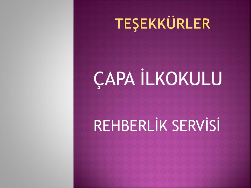 ÇAPA İLKOKULU REHBERLİK SERVİSİ