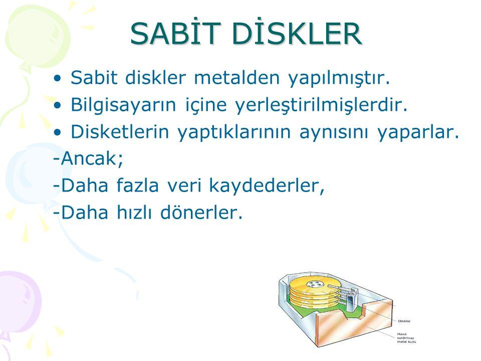 Disketi bilgisayara takmak Disket, etiketli yüzü üste, kayar pencereli kısmı öne gelecek şekilde sürücüye takılır.