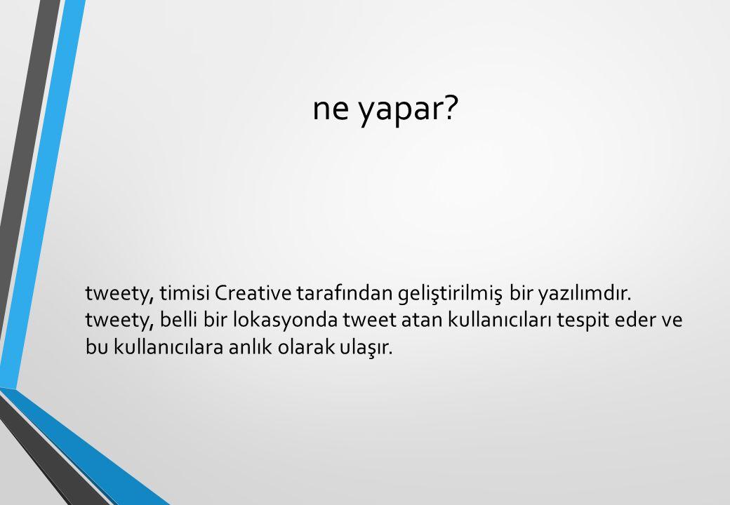ne yapar. tweety, timisi Creative tarafından geliştirilmiş bir yazılımdır.