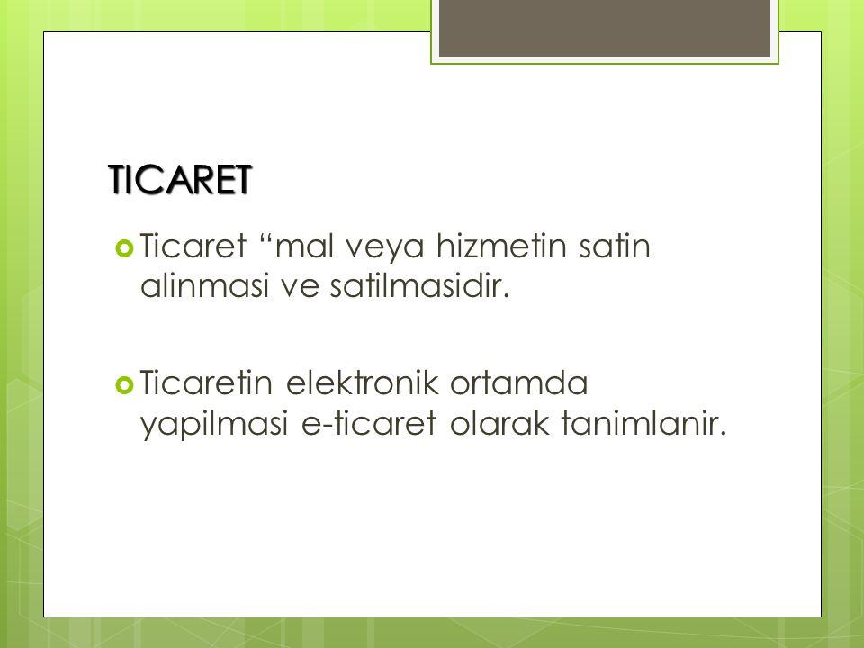 TICARET  Ticaret mal veya hizmetin satin alinmasi ve satilmasidir.