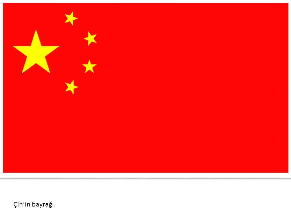 Çin'in bayrağı.