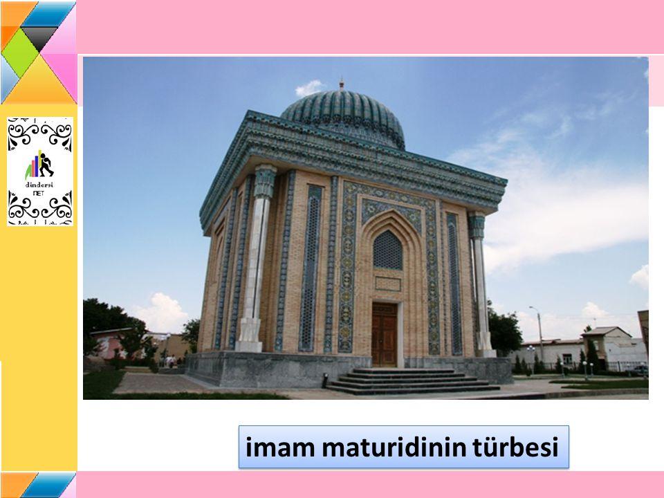 Bugünkü Özbekistan ın Semerkand şehri yakınındaki Matürid köyünde doğmuştur.