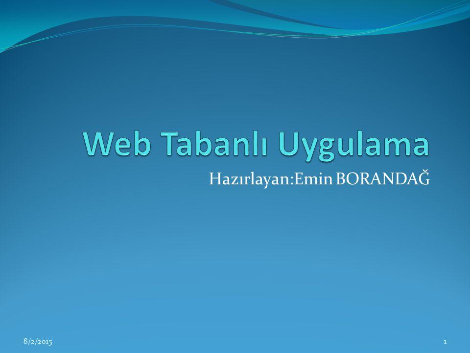CSS CSS web sayfasını biçimlendirmede HTML den daha geniş imkânlar sunar.