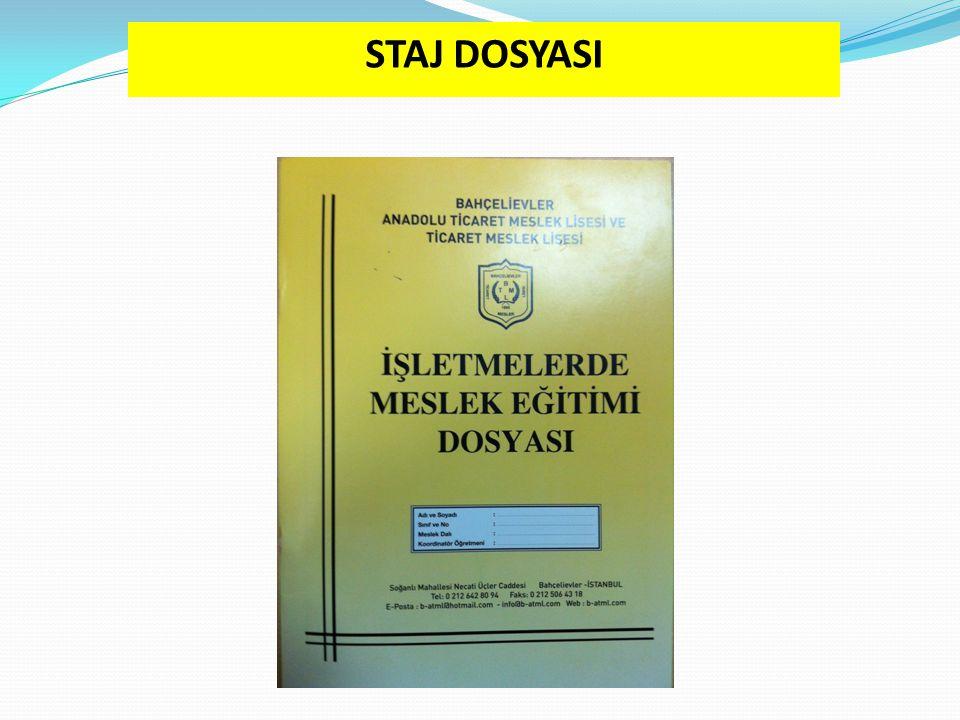  Öğrencilerimizin iş ve işlemlerini takip etmek amacıyla okulumuz tarafından hazırlatılmış dosyadır.