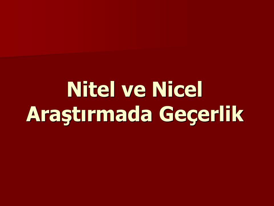 Nitel ve Nicel Araştırmada Geçerlik