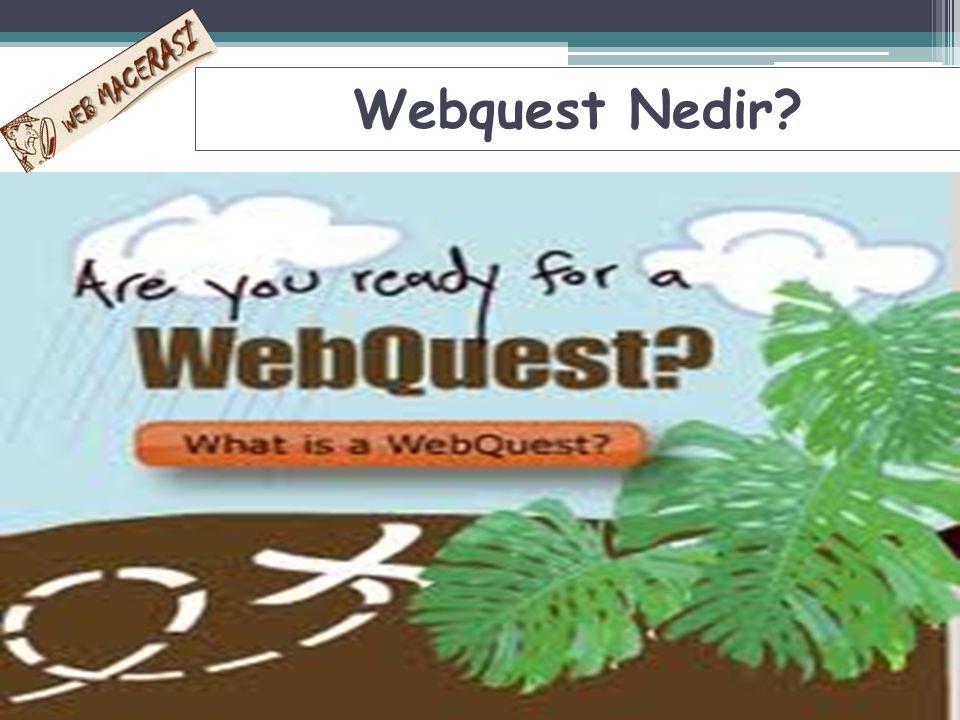WWeb Quest; öğrencilerin bilgileri toplayıp analiz ettiği WEB de kullanılan bir araştırma aktivitesidir.