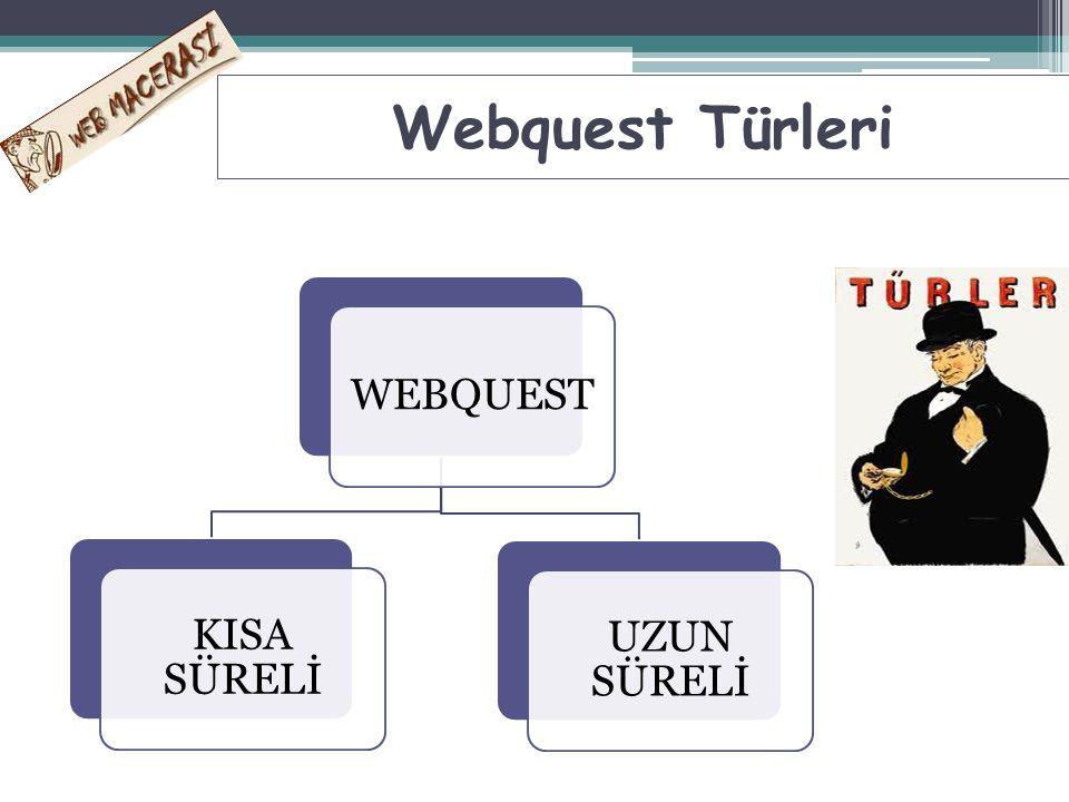 Uzun Süreli Webquestler: Öğretim hedefi: Bilgiyi geliştirmek ve sadeleştirmek.