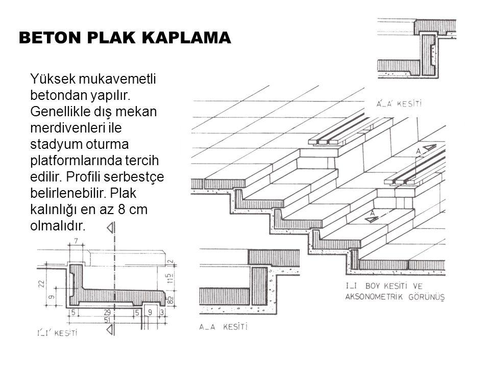 BETON PLAK KAPLAMA Yüksek mukavemetli betondan yapılır.