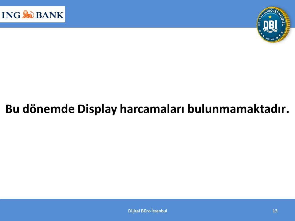 Dijital Büro İstanbul13 Bu dönemde Display harcamaları bulunmamaktadır.