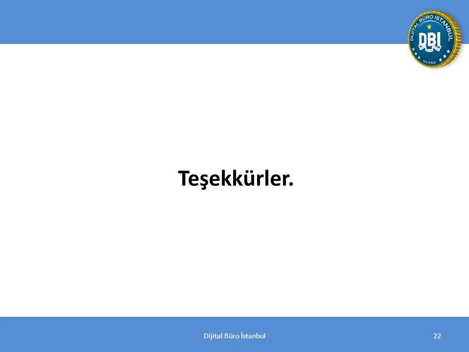 Dijital Büro İstanbul22 Bin sayfa Teşekkürler.