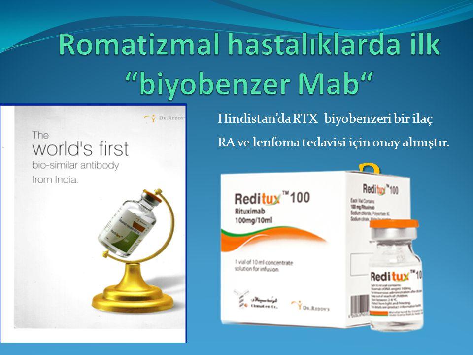 ? Hindistan'da RTX biyobenzeri bir ilaç RA ve lenfoma tedavisi için onay almıştır.