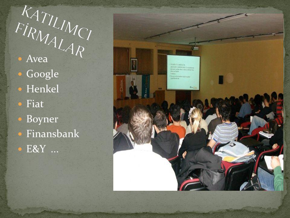 Avea Google Henkel Fiat Boyner Finansbank E&Y...