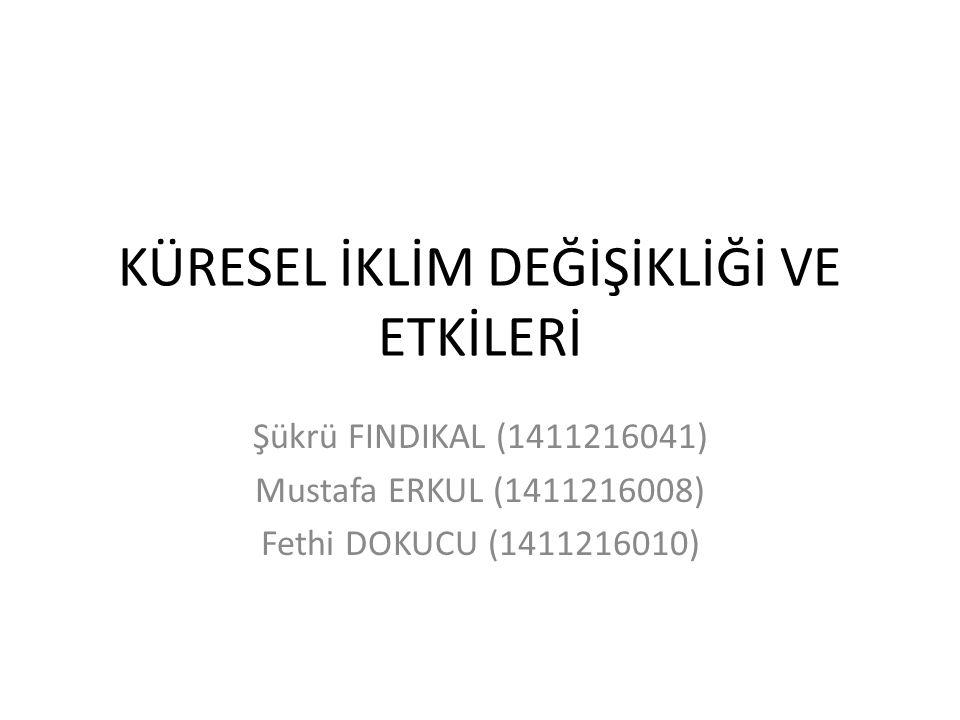 KÜRESEL İKLİM DEĞİŞİKLİĞİ VE ETKİLERİ Şükrü FINDIKAL (1411216041) Mustafa ERKUL (1411216008) Fethi DOKUCU (1411216010)