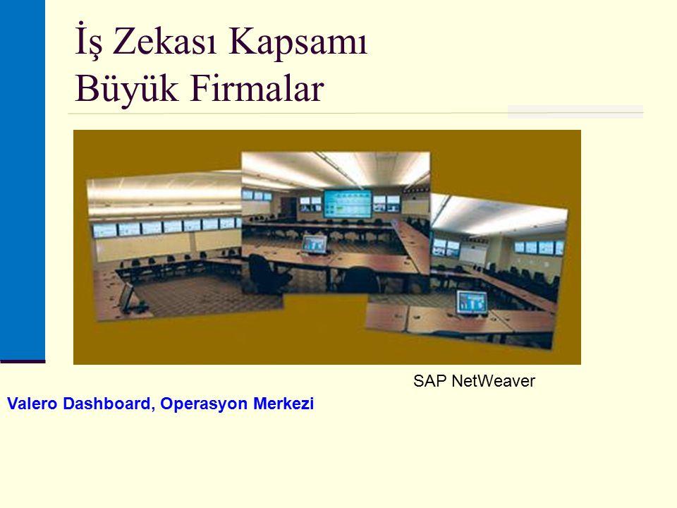 İş Zekası Kapsamı Büyük Firmalar Valero Dashboard, Operasyon Merkezi SAP NetWeaver