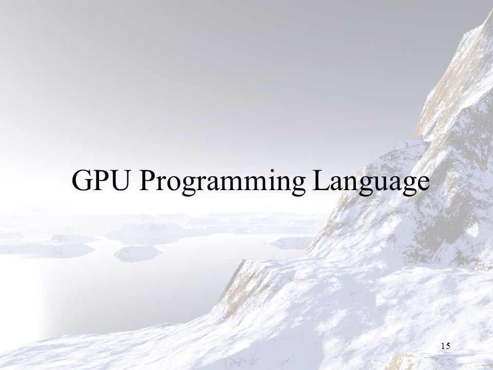 GPU Programming Language 15