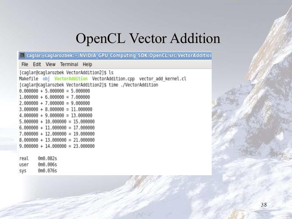 OpenCL Vector Addition 38