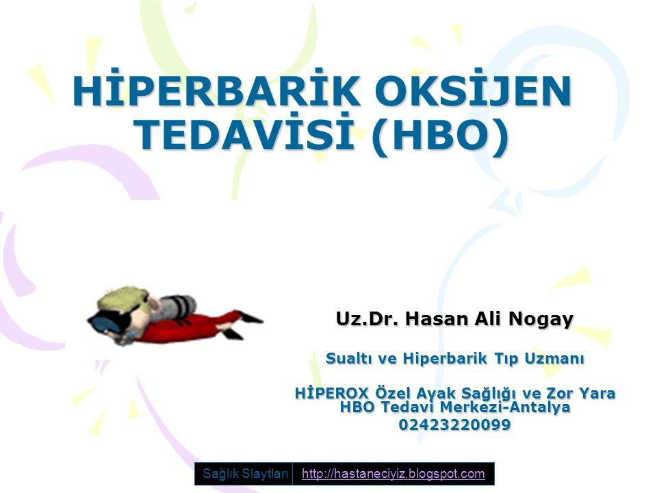 HİPERBARİK OKSİJEN TEDAVİSİ (HBO) Uz.Dr. Hasan Ali Nogay Sualtı ve Hiperbarik Tıp Uzmanı HİPEROX Özel Ayak Sağlığı ve Zor Yara HBO Tedavi Merkezi-Anta