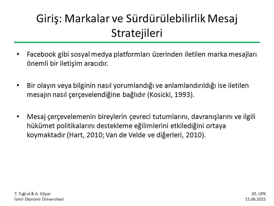 Araştırmanın Amacı Türkiye'nin en değerli markalarının sosyal medyada sürdürülebilirlik içerikli mesaj çerçeveleme stratejilerini üçlü sorumluluk yaklaşımı ile incelemektir.