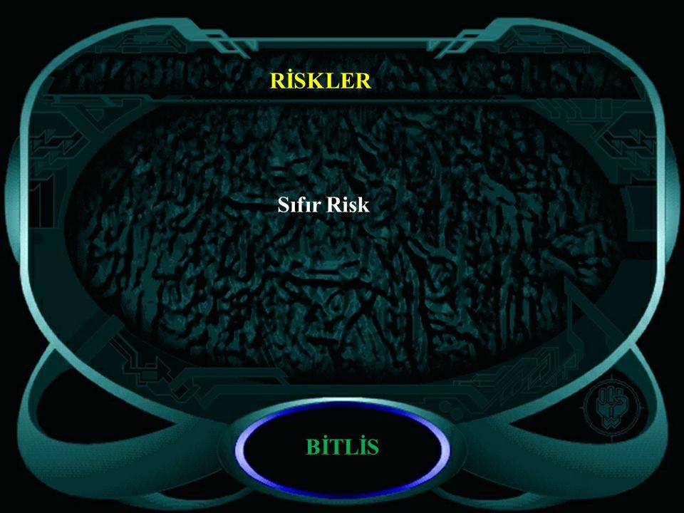 RİSKLER Sıfır Risk BİTLİS