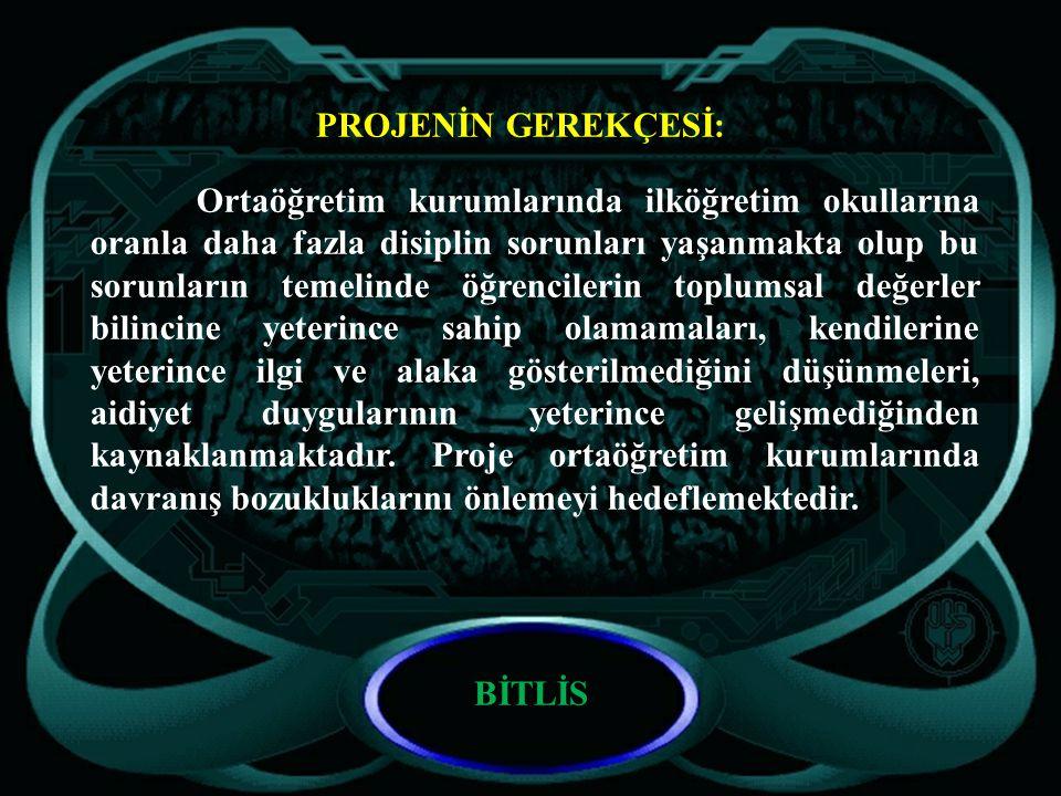 PROJEYİ HAZIRLAYAN: Bitlis İl Milli Eğitim Müdürlüğü BİTLİS