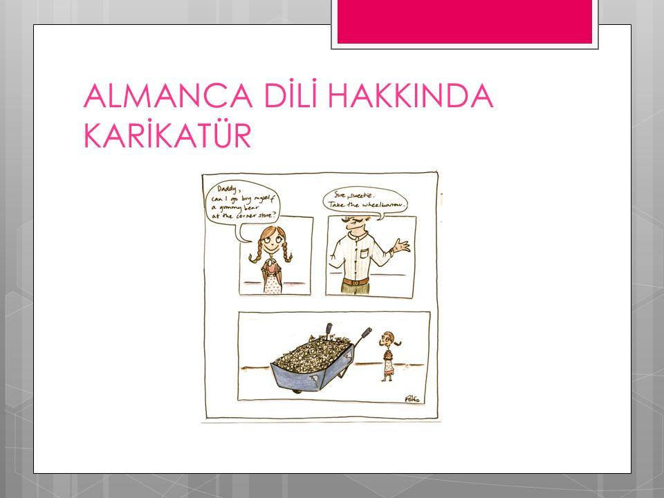 ALMANCA DİLİ HAKKINDA KARİKATÜR