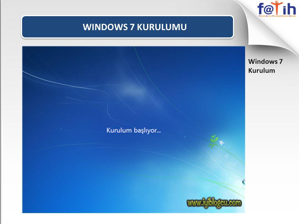 WINDOWS 7 KURULUMU Windows 7 Kurulum Windows 7' nın ilk açılışta güncelleştirilm esini isteyip istemediğini soruyor burada Önerilen ayarları seçebilirsiniz.