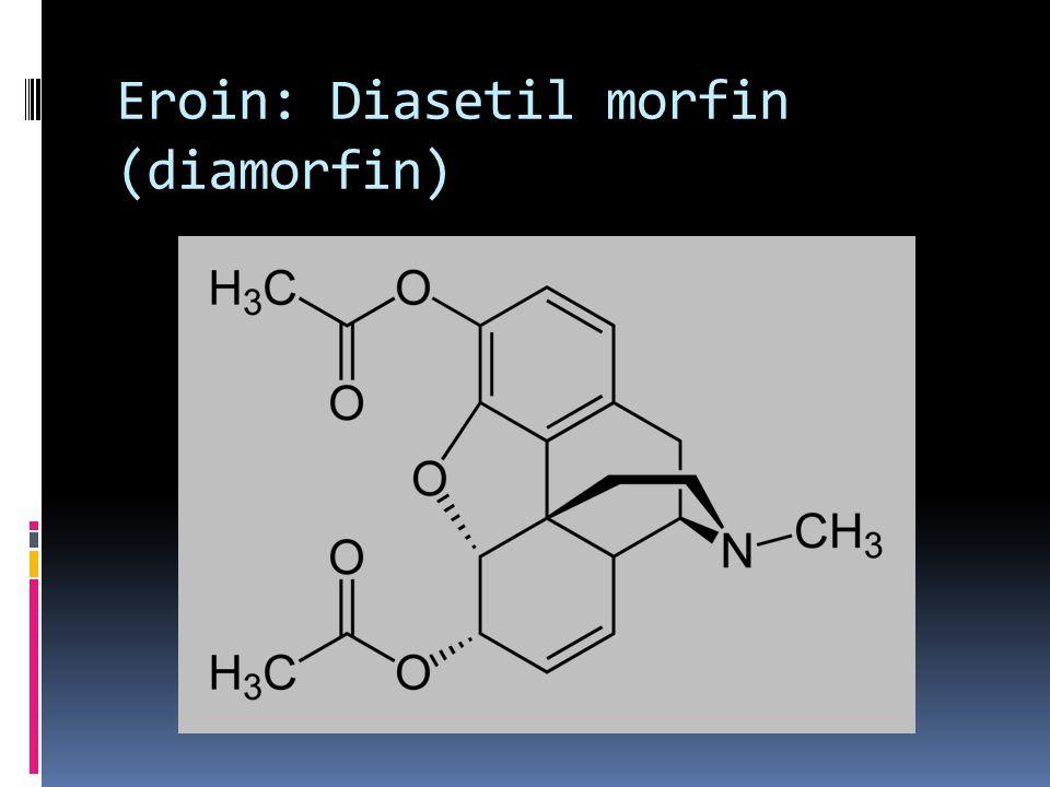 Eroin  Morfinin 3,6-diasetil türevidir ve onun asetilasyonu ile sentezlenir.