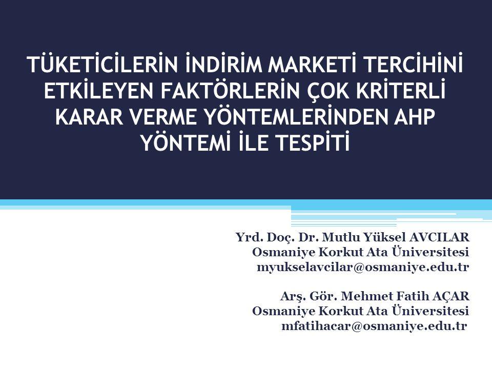 Sunum İçeriği  İndirim Marketleri  Literatür Taraması  Araştırmanın Amacı ve Önemi  Araştırmanın Kısıtları ve Sınırları  Araştırmanın Değişkenleri  Araştırmanın Ana kütlesi ve Örnekleme Süreci  Verilerin Analiz Yöntemi  Bulgular  Sonuç ve Öneriler