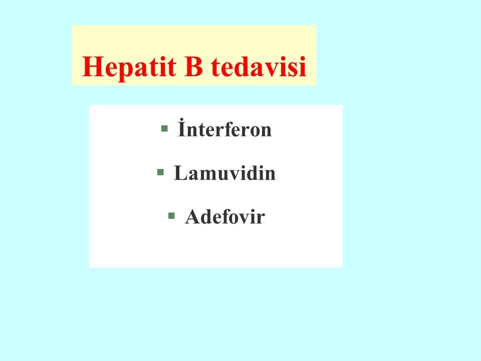 Hepatit B tedavisi §İnterferon §Lamuvidin §Adefovir