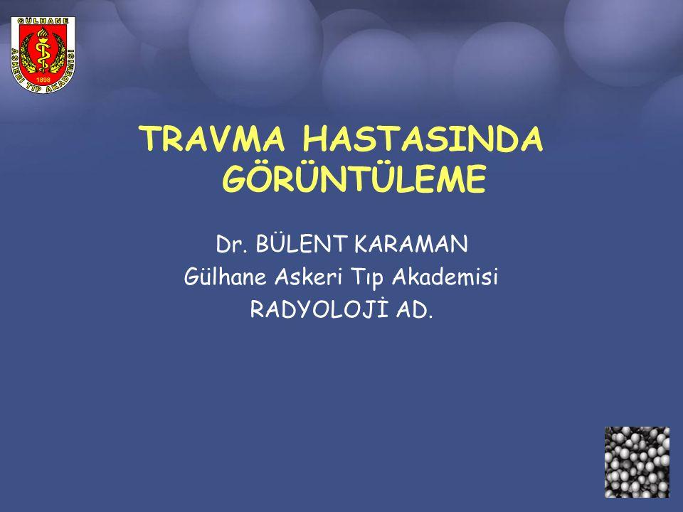 Sonuç ÇKBT travma radyolojisinde rolü ön plana çıkmaktadır.