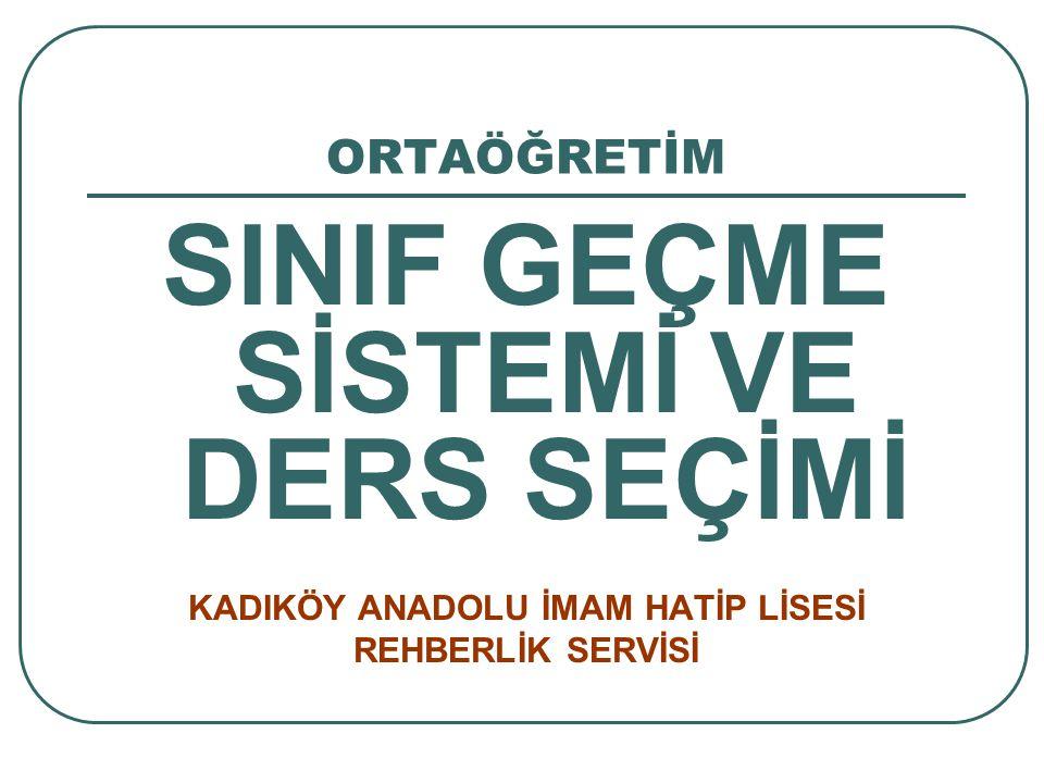 DERS SEÇİMİ 9.