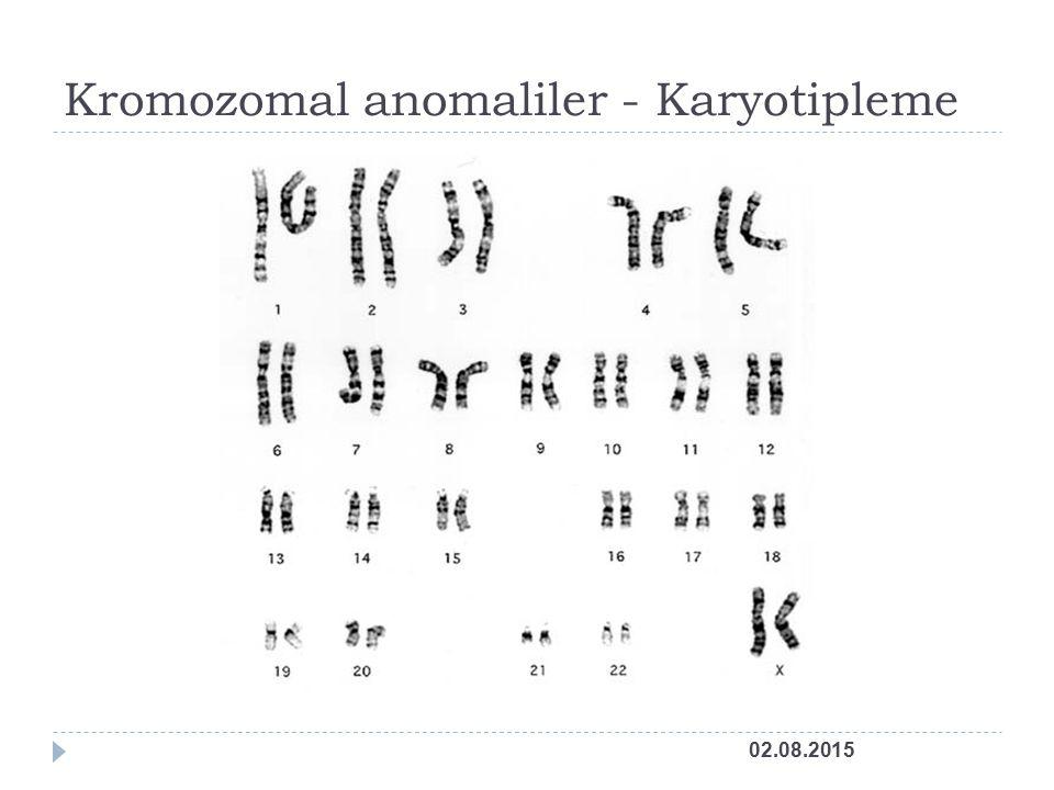 Kromozomal anomaliler - Karyotipleme 02.08.2015