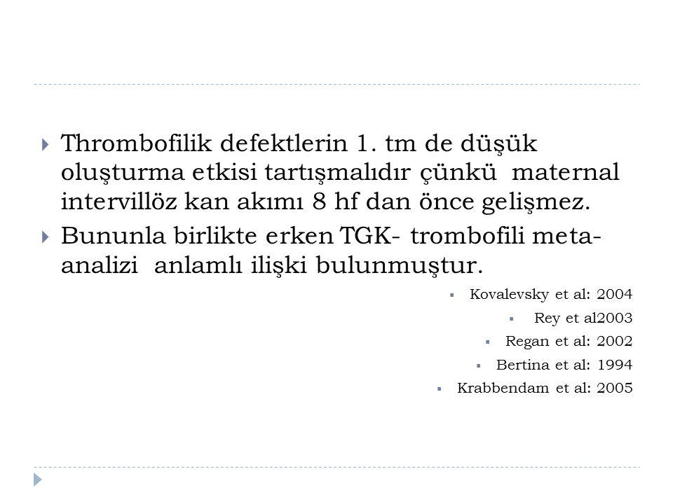  Thrombofilik defektlerin 1.