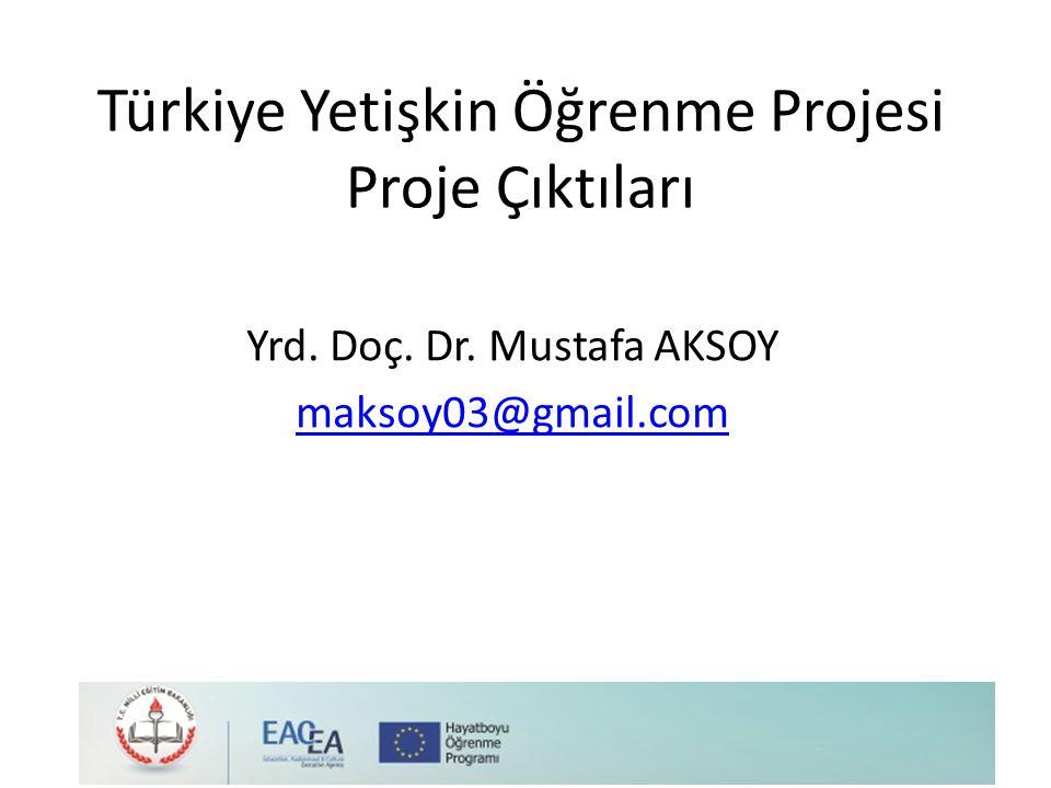 Türkiye Yetişkin Öğrenme Projesi Proje Çıktıları Yrd. Doç. Dr. Mustafa AKSOY maksoy03@gmail.com