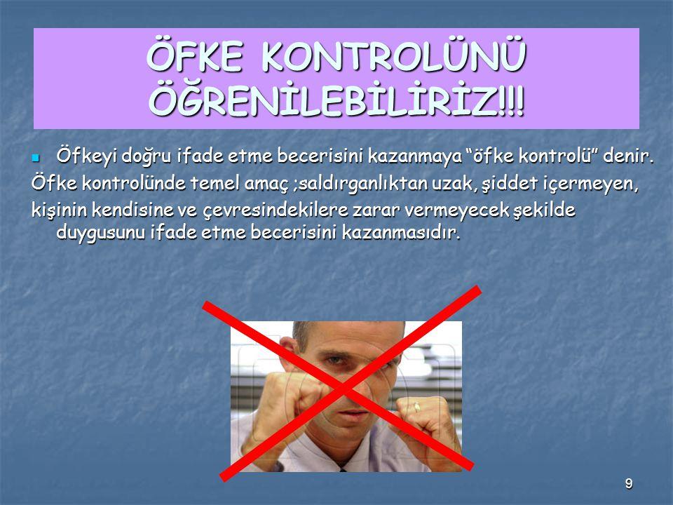 9 ÖFKE KONTROLÜNÜ ÖĞRENİLEBİLİRİZ!!.