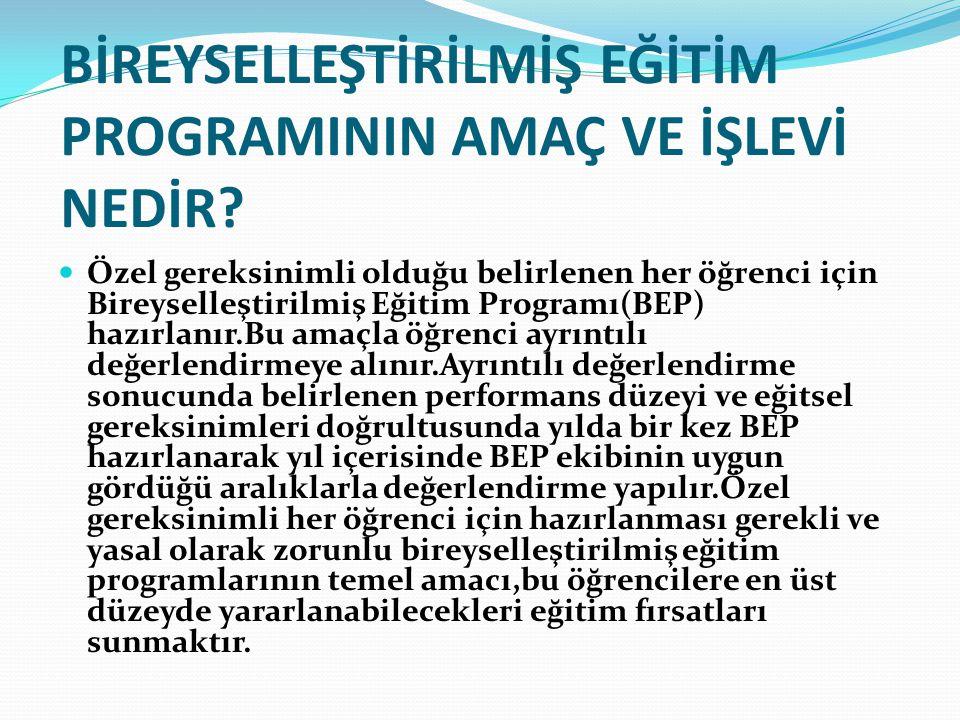 KİMLERİN BEP'E İHTİYACI VARDIR.