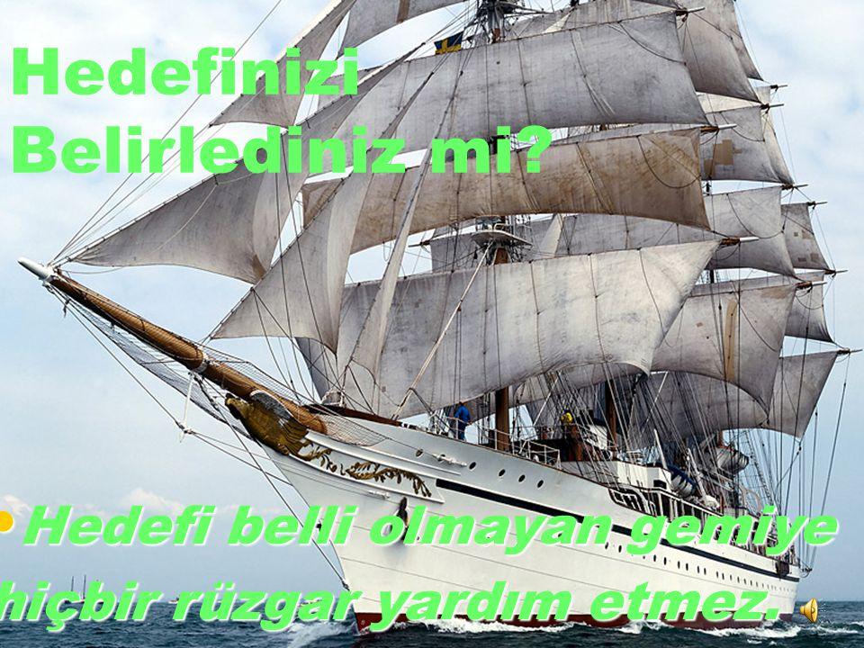 empati_bilir@hotmail.com Hedefinizi Belirlediniz mi? Hedefi belli olmayan gemiye Hedefi belli olmayan gemiye hiçbir rüzgar yardım etmez.