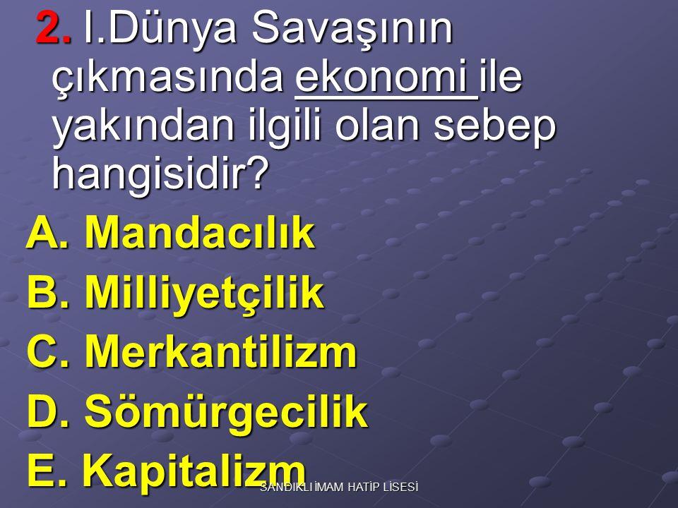 7.Osmanlıcılık fikrinin çöktüğü savaş aşağıdakilerden hangisidir.
