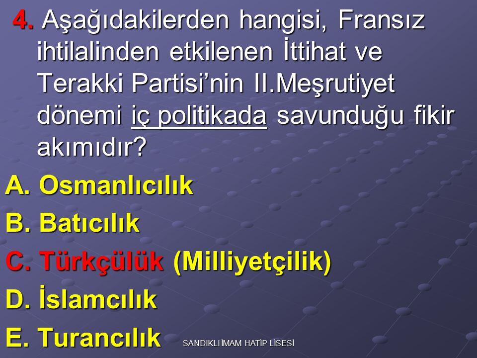 5.Osmanlı; 5. Osmanlı; I. Balkanlar I. Balkanlar II.