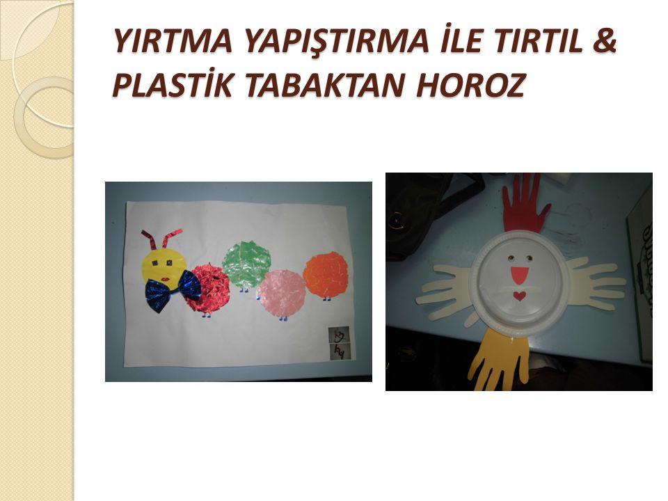 ÇAM AĞACIMIZ & ARTIK MATERYALLERDEN RESİM