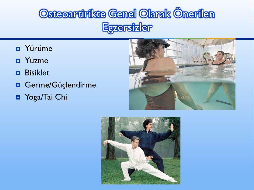  Yürüme  Yüzme  Bisiklet  Germe/Güçlendirme  Yoga/Tai Chi