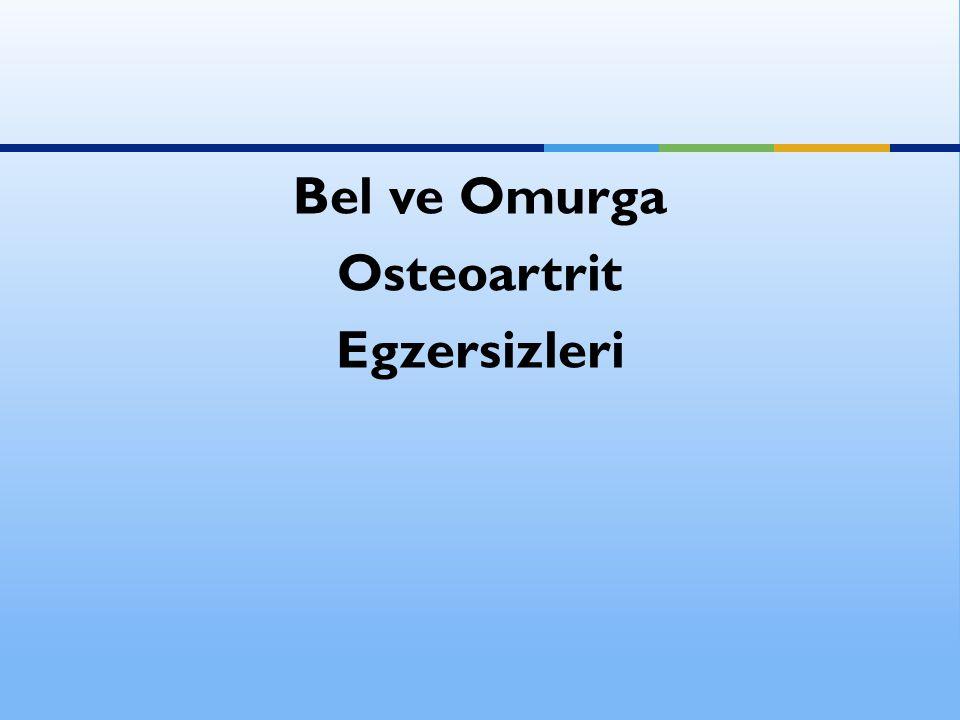 Bel ve Omurga Osteoartrit Egzersizleri