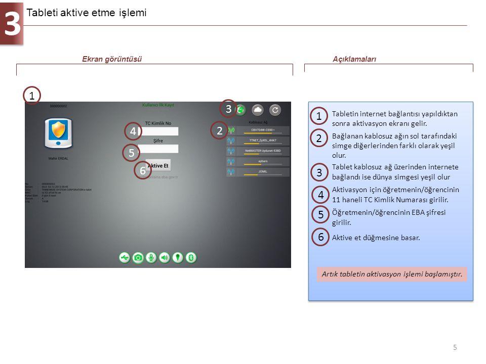 3 5 Tabletin internet bağlantısı yapıldıktan sonra aktivasyon ekranı gelir. 1 Ekran görüntüsüAçıklamaları 1 Artık tabletin aktivasyon işlemi başlamışt