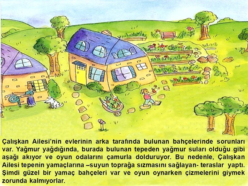 Çalışkan Ailesi'nin evlerinin arka tarafında bulunan bahçelerinde sorunları var. Yağmur yağdığında, burada bulunan tepeden yağmur suları olduğu gibi a